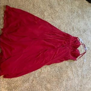 Red backless prom dress!